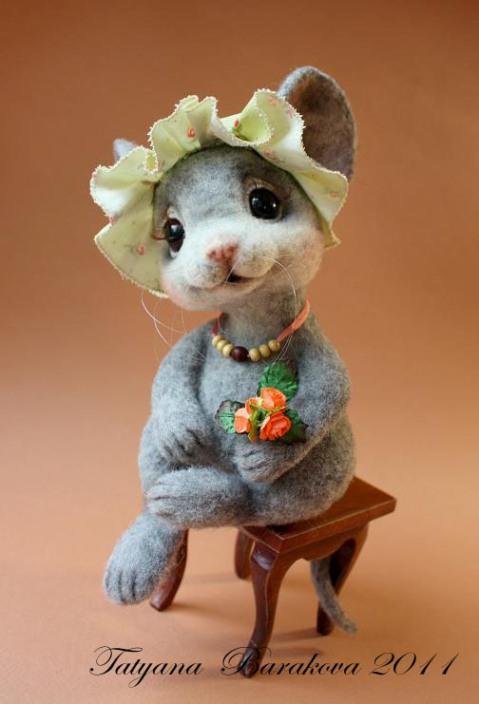 Войлочная мышка. Фото