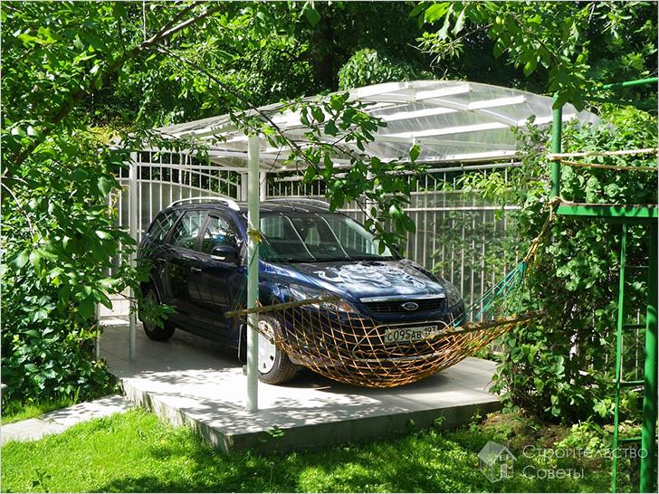 Устройство парковки на даче своими руками 23