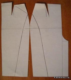 Моделирование юбки - карандаш от Donna Karan