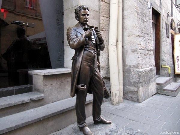 Памятник Мазоху во Львове интересное, памятники