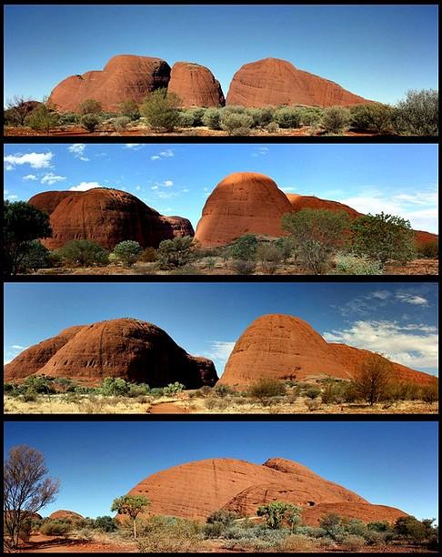 Скала Ката Тьюта (Гора Ольга) в Австралии. Фото