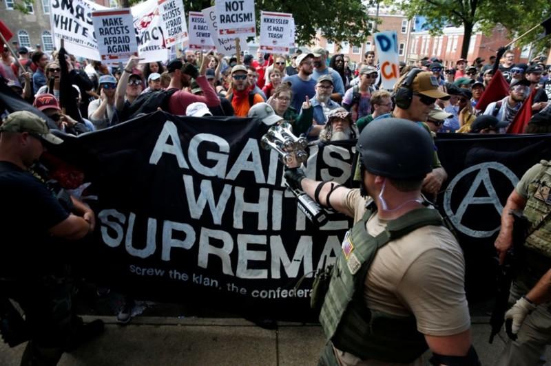 Против белого превосходства Трамп, Шарлотсвилль, америка, конфедерация, левые, сша