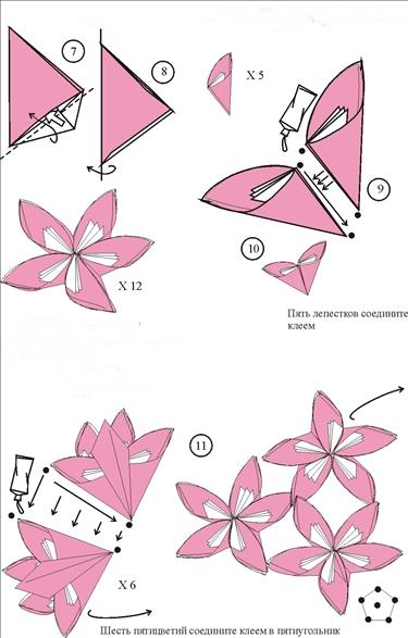 Красивые цветы из бумаги схемы для начинающих