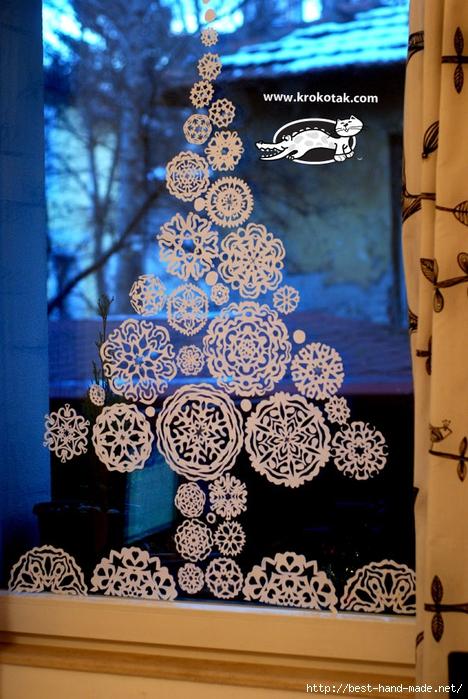 Шаблоны снежинок. Идеи применения снежинок в декоре!