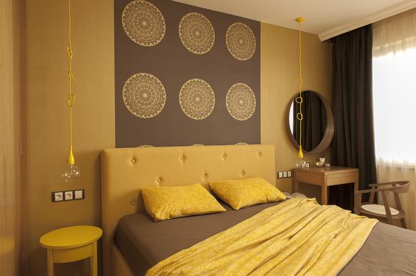 Дизайн спальни в дизайне двухкомнатной квартиры 45 кв м фото