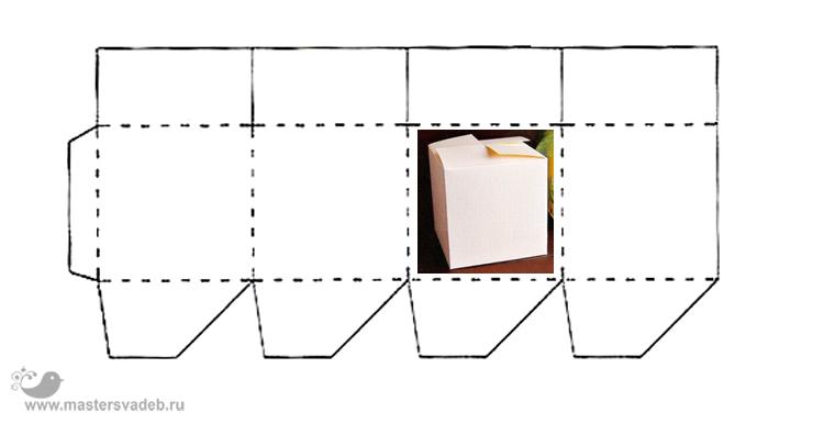Квадратная коробочка из картона своими руками схемы