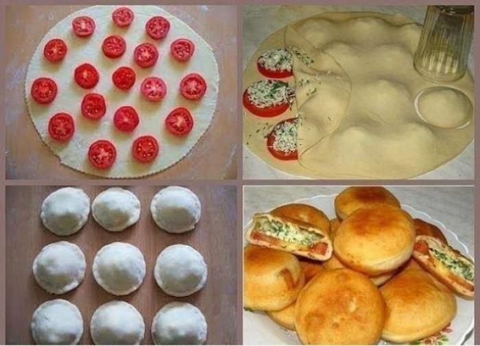 Пирожки с помидорами в духовке