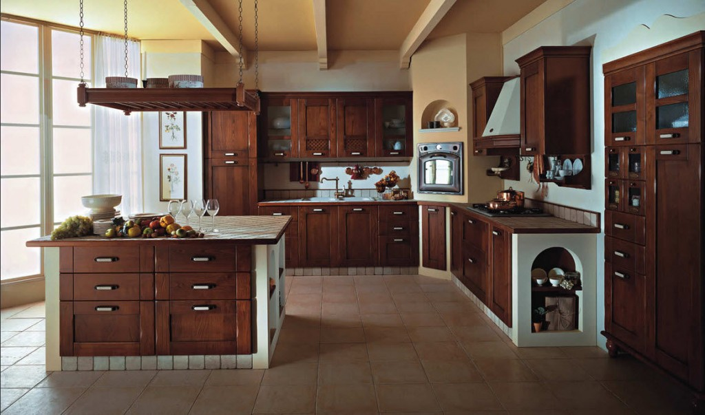 gorgeous classic kitchen islands 1024x603 Дизайн фасадов кухонных шкафов 60 фото