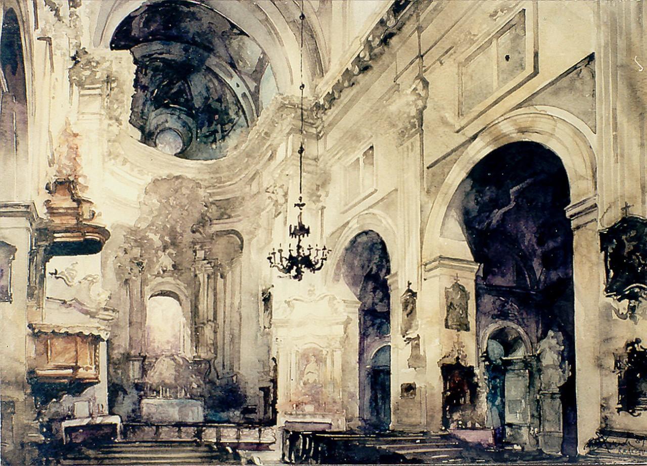 Архитектурные акварели художника Paul Dmoch
