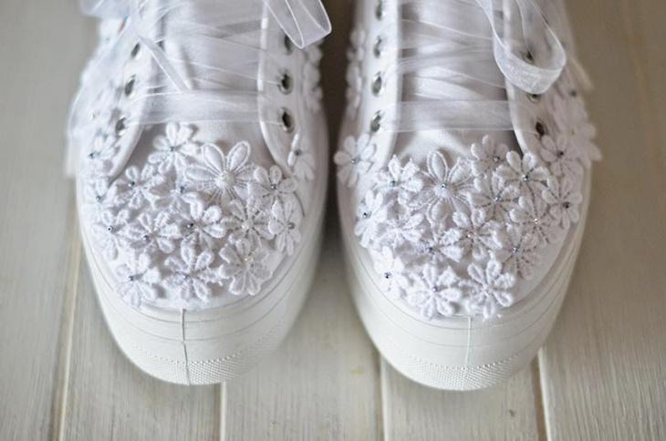 переделка обуви, кружево