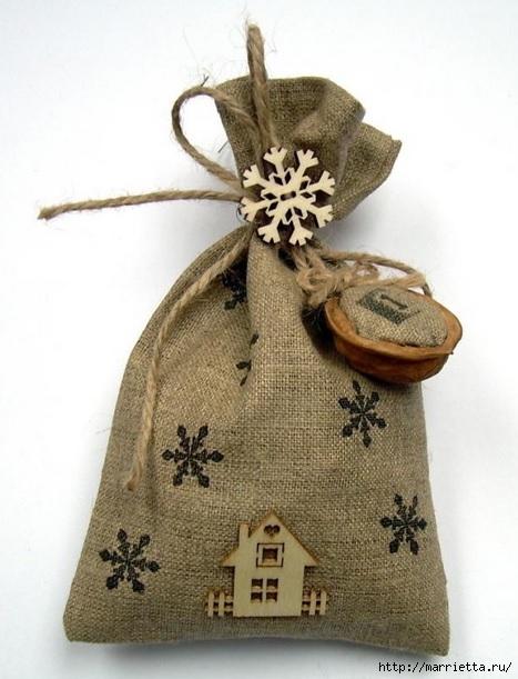 Новогодние идеи из мешковины и грецких орехов! (мастер-классы)