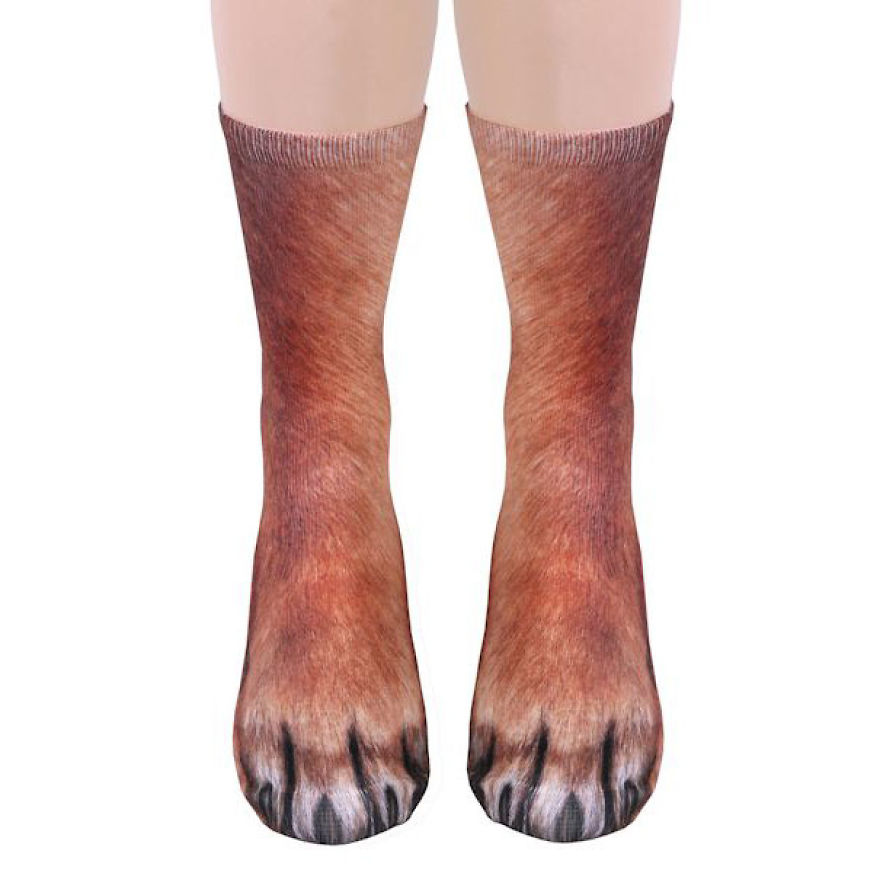 Realistic Animal Socks Will Make You Look Like You Have Animal Paws