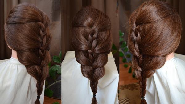 Оригинальные причёски на каждый день для средних волос