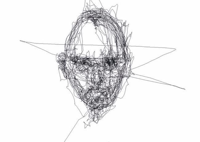 рисунки глазами, художник рисует глазами, Грэхем Финк, Graham Fink