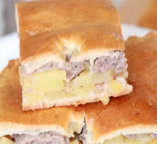 Готовим мясной пирог из дрожжевого теста — рецепт с фото