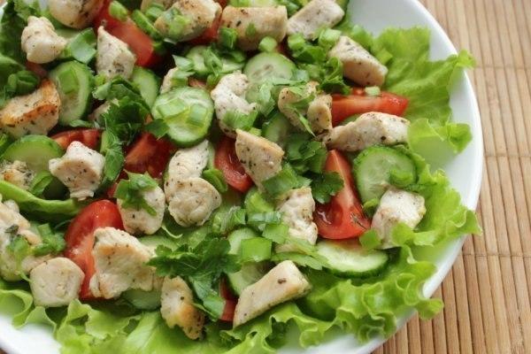 Рецепты салатов из овощей и курицы с простые и вкусные