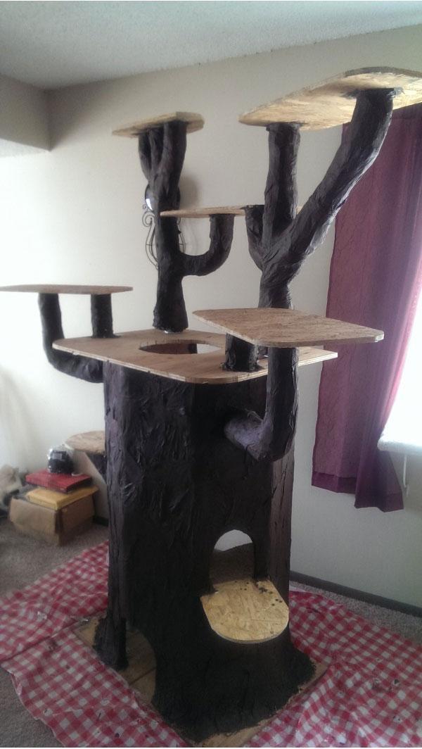 Дом для кота своими руками размер фото 201