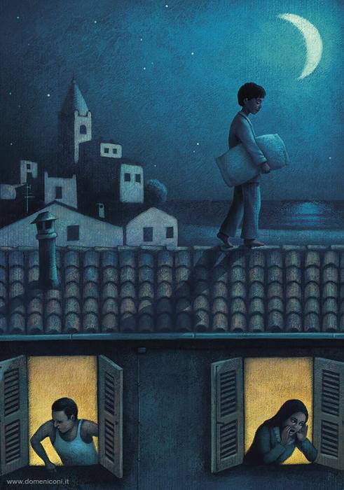 Ночные прогулки во сне. Автор: Paolo Domeniconi.