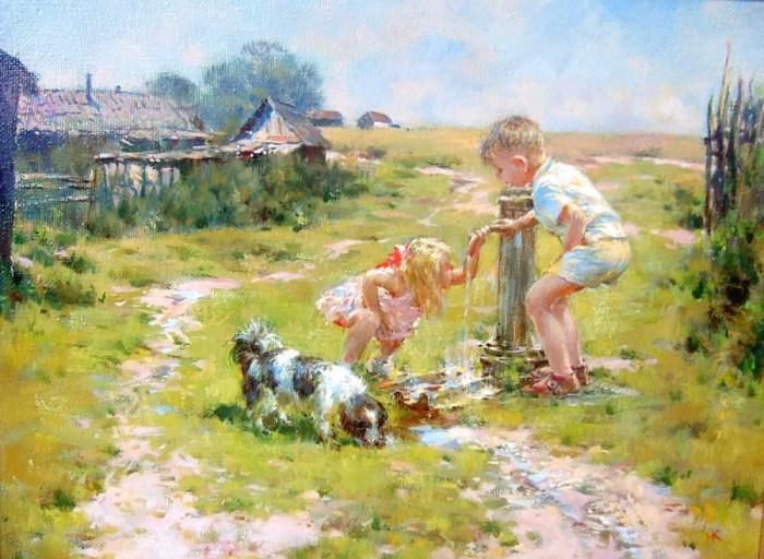 Хочется туда вернуться — лето, солнце и детство на картинах Николая Козленко