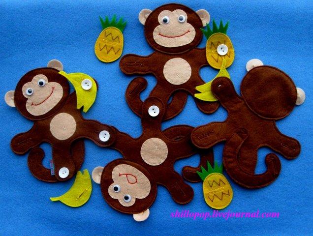Символ года обезьяна своими руками из подручных