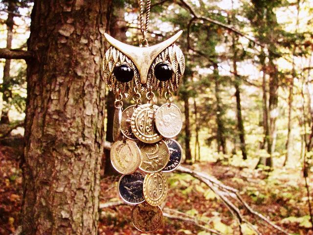 Сова монетки, поделка