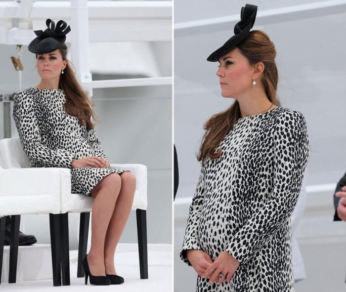 Кейт Миддлтон в платье с леопардовым принтом от известного британского бренда «Hobbs».