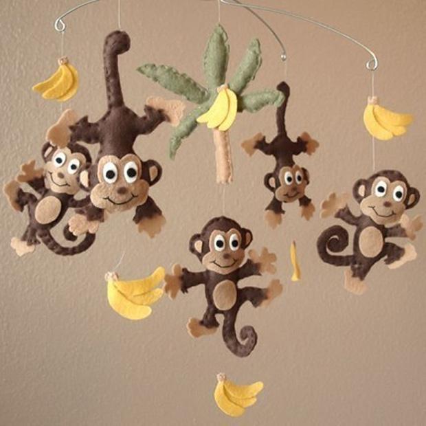 Елочные игрушки обезьянка своими руками