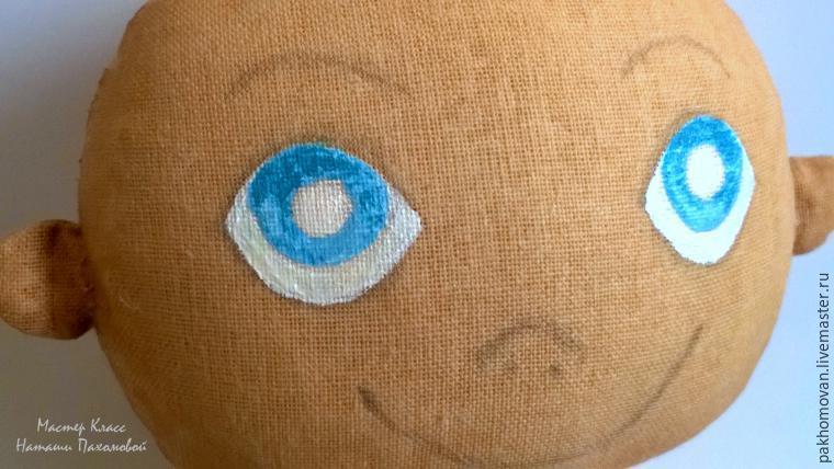 Учимся оживлять текстильную куклу: роспись лица
