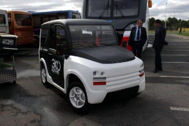 Группа российских конструкторов создала электрический ситикар с четырьмя мотор-колёсами