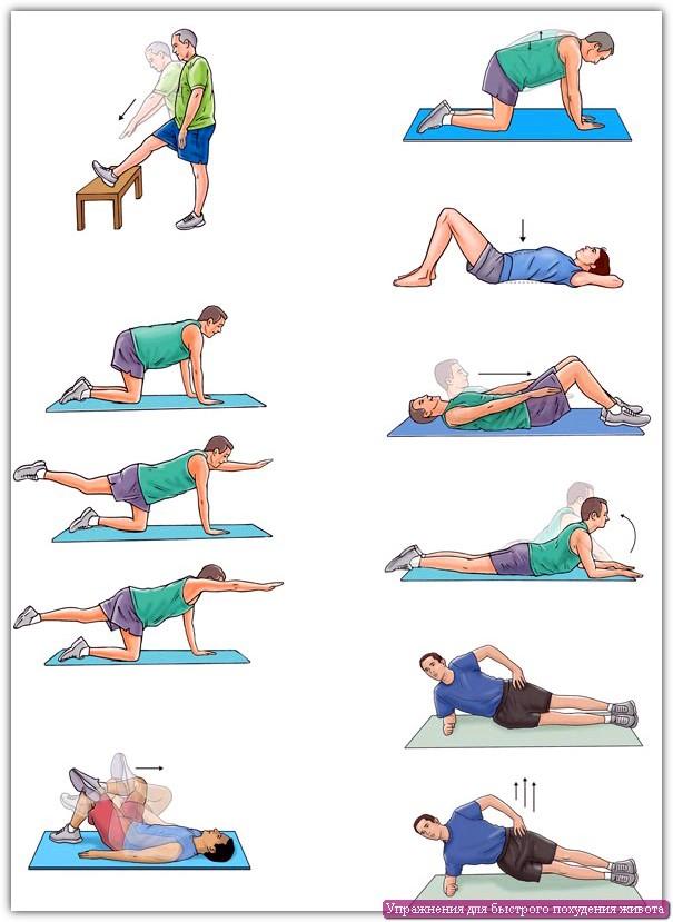 Упражнения для ног и живота!