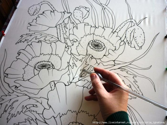 лотос рисунок карандашом: