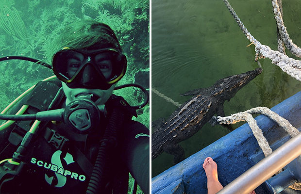 Морской биолог вырвался из пасти трехметрового крокодила