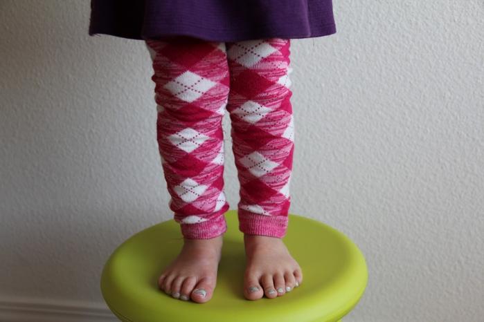 Детские леггинсы из носков. МК