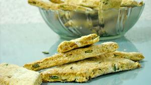 Печенье с зеленым луком