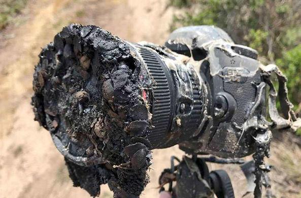 Фотограф лишился камеры за $3500, пытаясь снять взлет Falcon 9