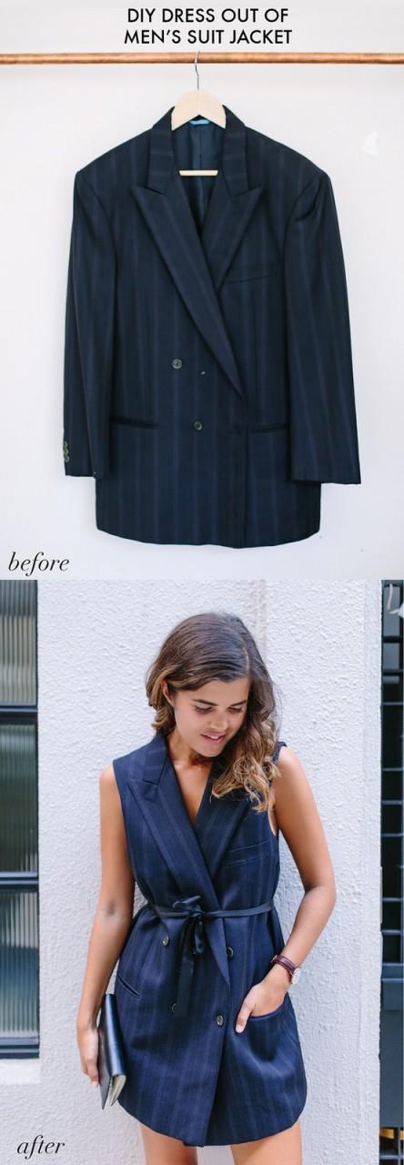 Платье из пиджака (Diy)