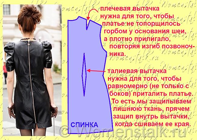 Как приталить платье самостоятельно
