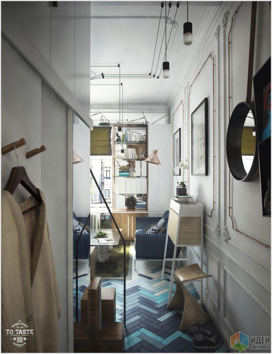 Квартира-студия прихожая, двухуровневая квартира фото