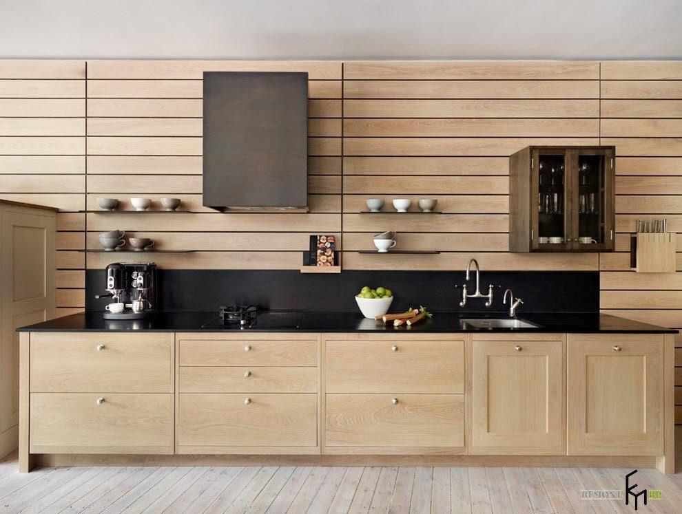 Кухня из натурального дерева дизайн