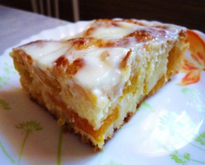 Нежный и воздушный пирог «Персиковое наслаждение»