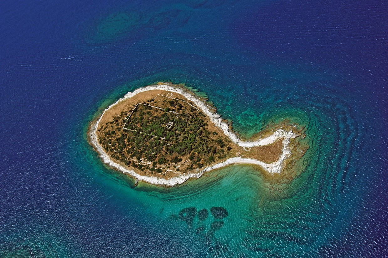 1. Остров в виде рыбы, Хорватия в мире, остров