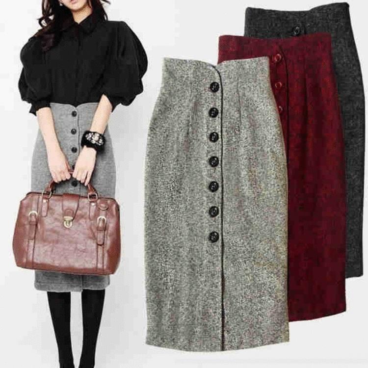 Тепло, красиво и женственно – 20+ самых стильных моделей юбок на зиму