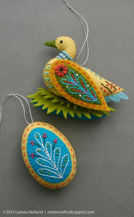 Райские птицы из фетра. Идеи (14) (433x700, 592Kb)