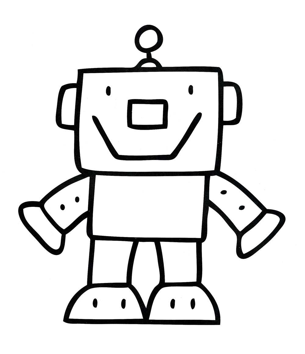 Раскраски для детей роботы - 3