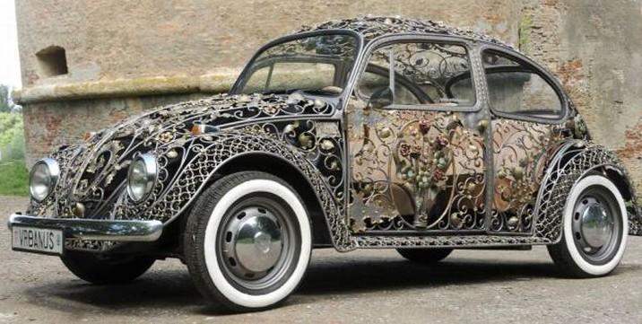 Кованный Volkswagen Beetle ковка, кузнецы, ручная работа