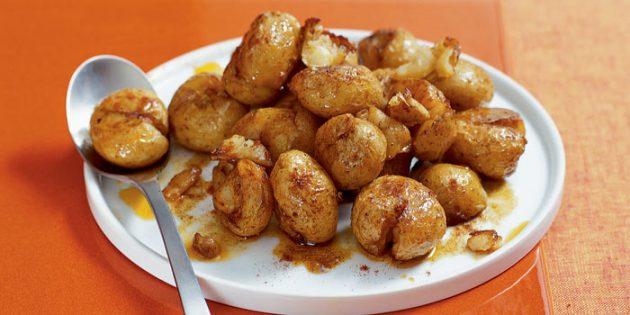 Хрустящая молодая картошка в духовке