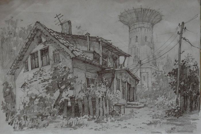 рисунки карандашом пейзажи - 08