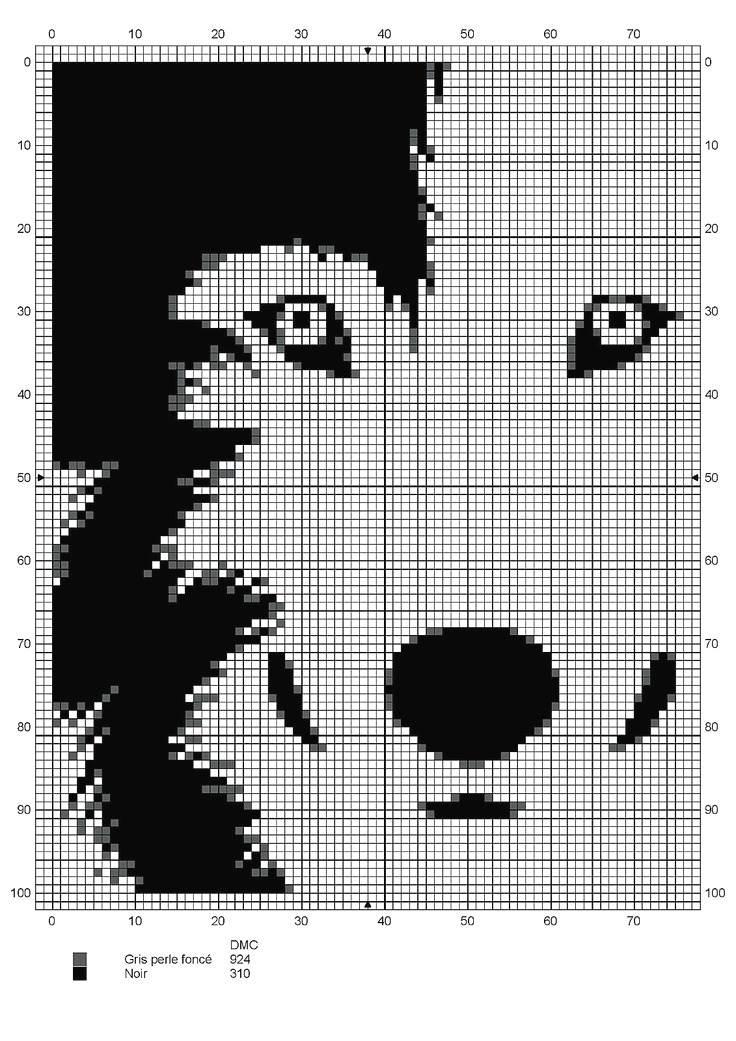 Схема для вышивки белый волк скачать