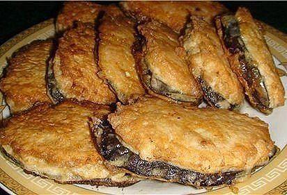 Быстрый ужин - жареные баклажаны под мясом