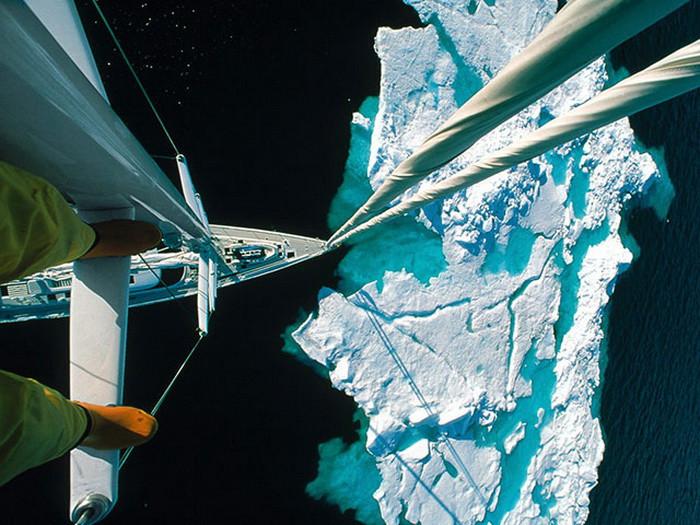 Наверное именно такое чувство испытывали моряки на «Титанике» - момент приближения корабля к айсбергу. дух, страшно, фотографии